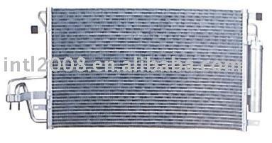 Auto condensador para hyundai turson/ china auto condensador fabricação/ china condensador fornecedor