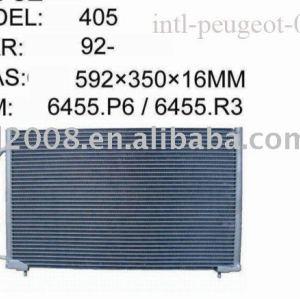 Auto condensador para peugeot 405/ china auto condensador fabricação/ china condensador fornecedor