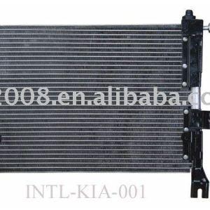 Auto condensador para a kia pride/ china auto condensador fabricação/ china condensador fornecedor