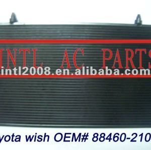Auto AC Condenser ASSY TOYOTA WISH 88460-21040 8846021040 88460 21040 for cooling GOOD QUALITY AND FAST DELIVERY