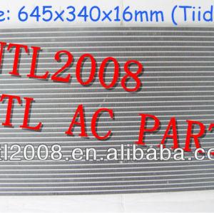 Ar ac ac condensador assembléia nissan tiida 2007 2008 2009 92100el000 92100-el000 ac um/c condensador com secador