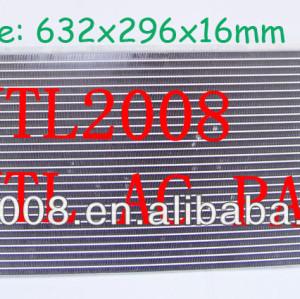 Ac ar condicionado condensador nissan sentra nissan nx 1991-1994 9211165y00 92111- 65y00 632x296x16mm nova auto condensador da ca