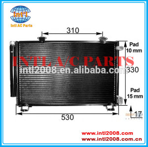 Auto parte de ar condicionado condensador da unidade para toyota yaris/echo 88454- 0d020/88460-52020/88460-54020/88450-52170