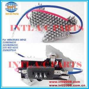 Ar condicionado aquecedor resistor reostato ventilador do ventilador do motor resistor para mercedes- benz 210 820 6210 2108206210 2028207310