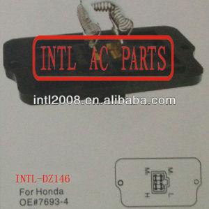 Ar condicionado aquecedor reostato resistor resistor aquecedor ventilador do ventilador do motor resistor para- honda 7693-4 4 4 pin pin
