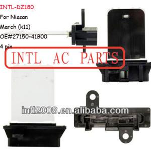 27150- 41b00 2715041b00 hvac aquecedor do motor do ventilador do ventilador resistor reostato para nissan