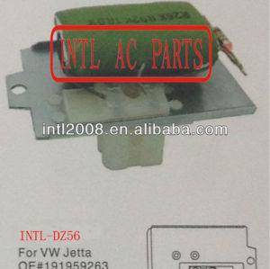 191959263 hvac blower resistor para volkswagen vw jetta resistência térmica/regulador/radiador do motor do ventilador resistor