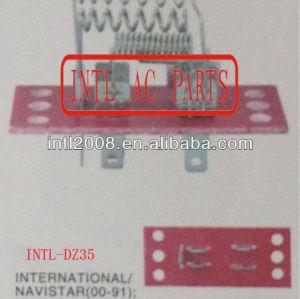 Hvac blower resistor para navistar international/kanworth volvo 1984-2000 resistência térmica/regulador/radiador ventilador resistor