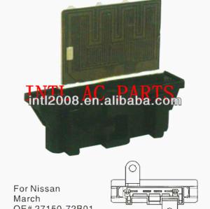 Um/c reostato aquecedor ventilador de motor resistor 27150- 72b01 2715072b01 para nissan micra 1992-2002