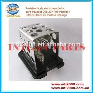 Ar condicionado ventilador resistor 126 7. e3 9641212480 para peugeot 206 307 406 parceiro citroen xsara picasso c3 berlingo