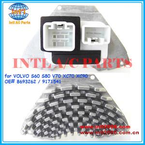 8693262 9171541 aquecedor do motor do ventilador do ventilador resistor para volvo s60 s70 s80 v70 xc70 xc90