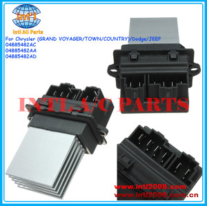 04885482ac 04885482aa 04885482ad aquecedor do carro ac motor ventilador regulador de resistor para chrysler voyager/cidade/país/dodge/jeep