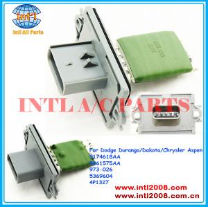 5174618aa 5061575aa 973-026 5369604 4p1327 aquecedor ventilador de motor regulador de resistor para dodge durango/dakota/chrysler aspen