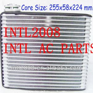 Evaporador ac central ar condicionado carro bobina de evaporador toyota vios toyota echo ar condicionado uma/núcleo do evaporador ac corpo 255x58x224mm