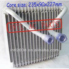Evaporador ac central ar condicionado carro bobina de evaporador para ford mondeo ar condicionado uma/c ac núcleo do evaporador( corpo) 235x90x227mm