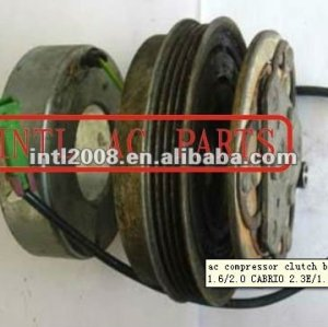 A/C compressor clutch with 4 grooves pulley for DCW17 AUDI 80 1.6/2.0 CABRIO 2.3E/1.9