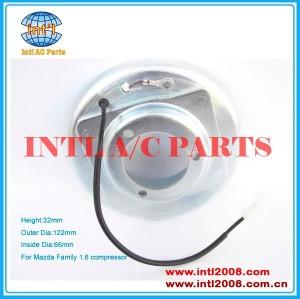 Um/c bobina de embreagem para mazda familia 1.6 compressor embreagem conjunto de bobina com 32*122*66*42mm