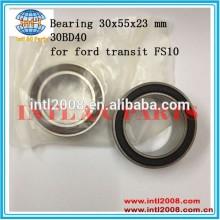 rolamento 30x55x23 mm 30bd40 para ford transit fs10 auto compressor modelo rolamento da embreagem
