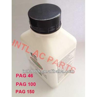 250g 8oz 250ml pag 46 100 150 r134a óleo compressor um/c sistemas de ar condicionado do carro r134a compressor de óleo lubrificante e refrigerante