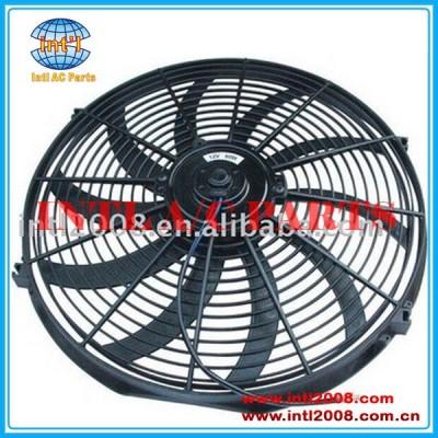 Universal ventilador do condensador do ventilador de resfriamento 16 polegadas 12v/24v ventilador do motor elétrico