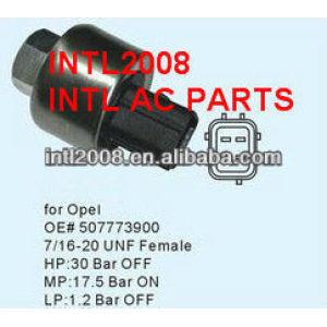 Auto AC Pressure Switch Sensor Pressostato Transducer for OPEL 507773900