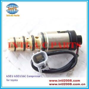 Compressor de controle eletrônico denso válvula 6seu16 6seu16c 6 seu para toyota camry/rav4/hiace/harrier etc