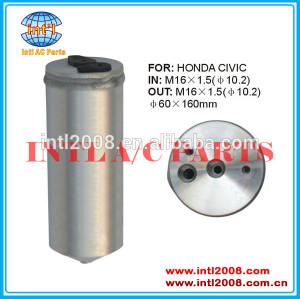Receptor secador secador uma/c acumulador para honda civci auto ar condicionado 60x160mm