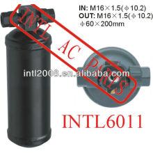 Ar condicionado ac secador do receptor uma/c receptor secador/acumulador em: m16x1.5 fora: m16x1.5( diâmetro 10.2) 60x200mm filtro secador