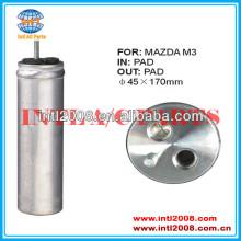 Um receptor de filtro secador um/c secador de receptores acumulador para mazda 3 m3 2.0l 2.3l 2004-2009 rd 10120c d65161501 bp4k61501a