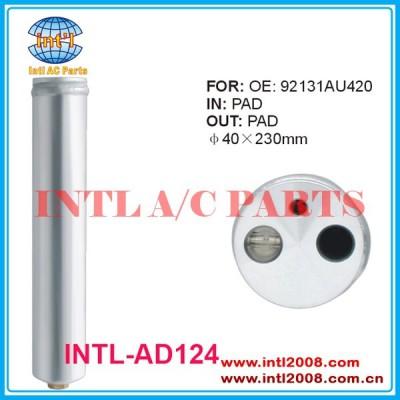 Ac secador do receptor para acura/honda/infiniti/mazda/nissan altima/versa/subaru v6 l4 2002-2010 92131-au420 92131- 2y920 ne51-61-501