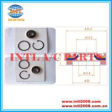 Air compressor ac eixo lábio de vedação para a gm da6/ht6/hr6/hr6he/r4/v5 nihon nvr14os duplo lábios com o- ring gaskit