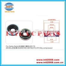 Vedação do eixo/lábios de vedação para seiko seiki ss170/zexeldks16h sd709 r12 r134a compressor da série