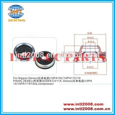 Vedação do eixo para uso nippon denso compressor, denso 17c/10pa20c 10pa15c/10pa dks cv 11a denso 10pa15/10pa17 lábio de vedação de óleo