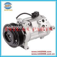 Denso 10s17c ar condicionado uma/c compressor pv6 sulcos com diâmetro mm 120 para o cadillac cts v6 3.2l 89023449