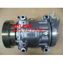 pv6 bomba ac auto compressor para nissan renault dacia sanden 7v16 sd7v161060 sd7v161061 sd7v161068