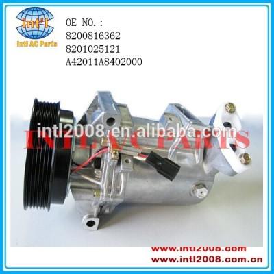 Calsonic cr12sc kompresor para renault fluence( l30_) auto ar condicionado compressor ac bomba ajuste para dacia sandero 1.5 8200816362 dci