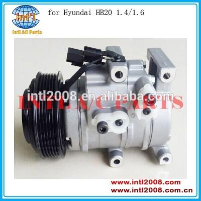 Pv6 sulcos 12v intl auto compressor da bomba para hyundai hb20 1.4/1.6 2010-- 2015