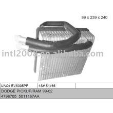 Auto evaporaotor para dodge pickup/ ram 99-02