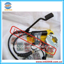 Foot-operated Hydraulic A/C Hose Crimper tool kit automotive air conditioner Hose fitting crimping machine