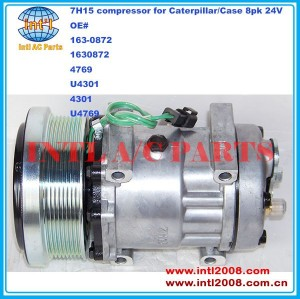 Sanden 7H15 709 sd709 SD7H15 163-0872 1630872 4769 U4301 4301 U4769 compressor ac auto para Trator para Caterpillar / Case