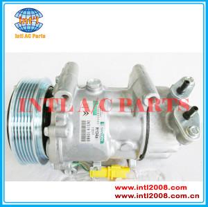 China factory 9800822280 5215310145 6453XJ 9655191580 6453QG 6453QE Sanden 6V12 SD6V12 AUTO A/C COMPRESSOR for Citroen Fiat Peugeot 206