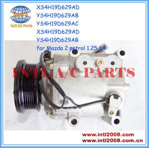 air con ac compressor Mazda 2 1.25 1.1 1.6 Petrol  2003-2007 XS4H19D629AD YS4H19D629AB YS4H19D629AC XS4H19D629AD YS4H19D629AB DE9416450/ kompresor