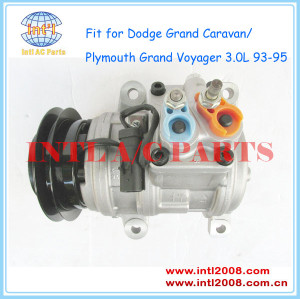 DENSO AC COMPRESSOR 10PA17K for Dodge Grand Caravan/Plymouth Grand Voyager 3.0L 4471002443 4472003108 4473000421 4677038 4740025  57396 58396 CO 24004C