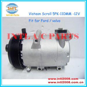 Scroll VS-16 ac a/c compressor for Ford focus 2.0 C-max/ Kuga /Volvo S40 C70 6M5H-19D629-AB 3M5H19497BA 3M5M19D629RM 1368905 3M5M19D629RW 3M5N19D629RN 6M4A19D629AB 3M5H-19D629-CF 3M5H19497BA 1333042