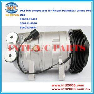 China factory 92600-9X400 506211-8920 506012-0841 926009X400 5060120841 DKS-16H DKS16H China supply auto ac compressor for Nissan Pathfider/Terrano 92600EB02A 92600EA200 926000X010