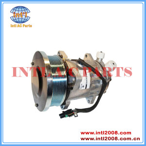 82016158 / 9847944 AC compressor w/Clutch Sanden SD7H15 4738 8160 8260 8360 8560 Fits for Ford / New Holland Tractor