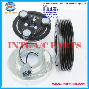 BP4K-61-K00 BP4K-61-K00A BP4K-61-K00B H12A1AG4DY H12-A1A-G4DY ac compressor clutch for 2003-2009 Mazda 3 1.3 1.6 6pk pulley