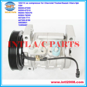 95200-67D00 12496467 77385 78385 4711295 10686SC 10686VC 10686Z DENSO 10S11C ac compressor for Chevrolet Tracker/Suzuki Vitara