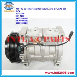 10S13C PV5 AC Compressor for Suzuki Aerio 2.0L 2.3L 2002-2007 2003 2004 2005 2006 OEM#95200-65DE0 447220-4581 447220-4580