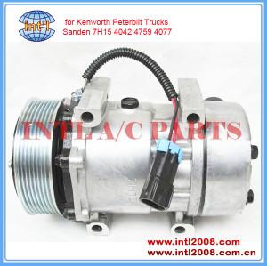 China supply Sanden 4368 4077 5365S F69-6003-111 F696003111 SD7H15 ac compressor for Kenworth/Peterbilt truck 8pk 12V